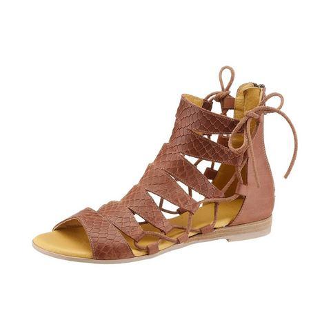 Dames schoen: LAURA SCOTT Romeinse sandalen van leer