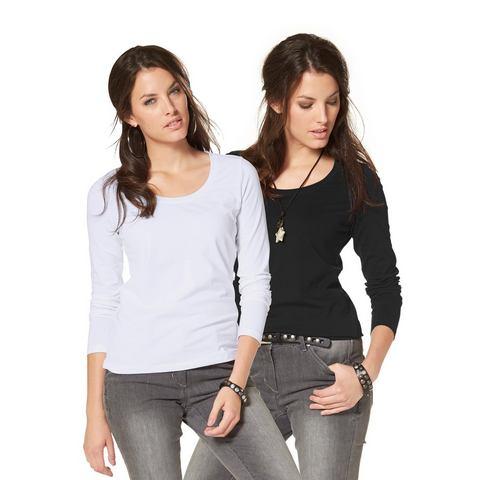 NU 20% KORTING: ANISTON Shirt met lange mouwen in set van 2