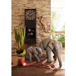 home affaire deco-figuur olifant van polyresine grijs