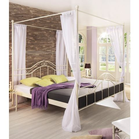 Metalen Bed ligoppervlakteak 180x200 cm wit Home Affaire 639207