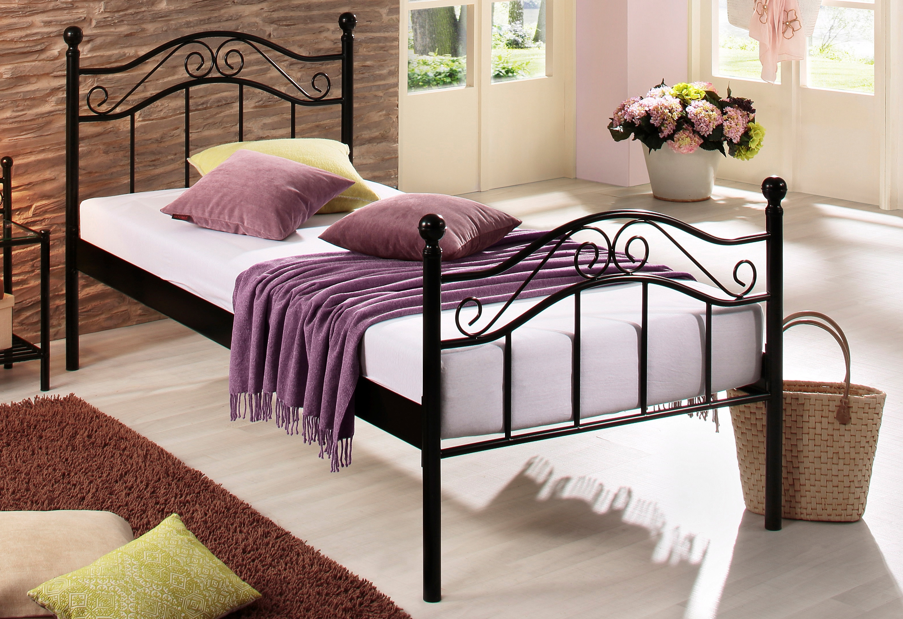metalen bed in de online winkel otto. Black Bedroom Furniture Sets. Home Design Ideas
