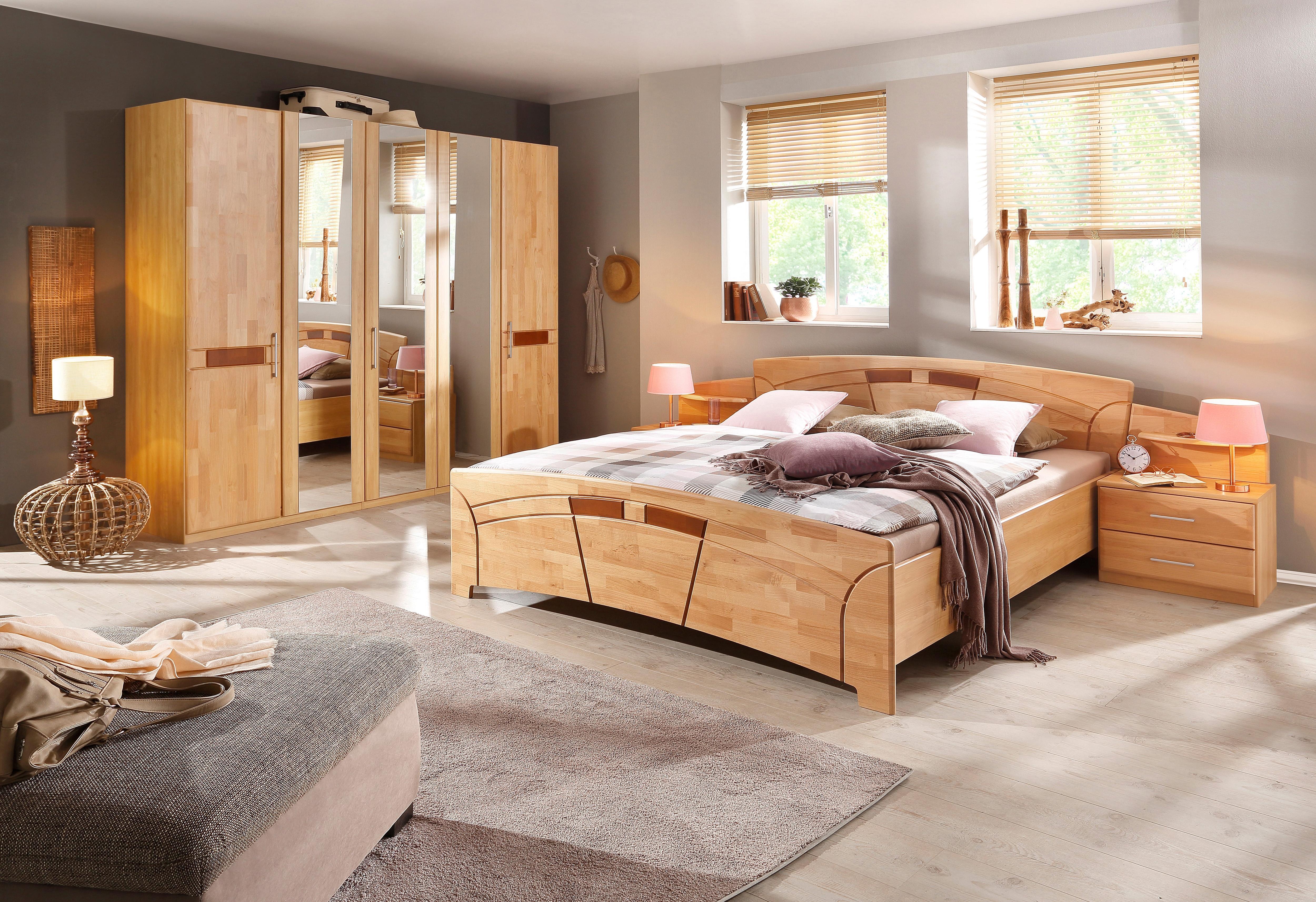 rauch BLACK slaapkamerserie Sarah met bed 180x200 en 5- of 6-deurs kast (set, 4 stuks) voordelig en veilig online kopen
