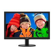 philips full hd-monitor, 54,6 cm (21,5 inch) »223v5lhsb2-00« zwart