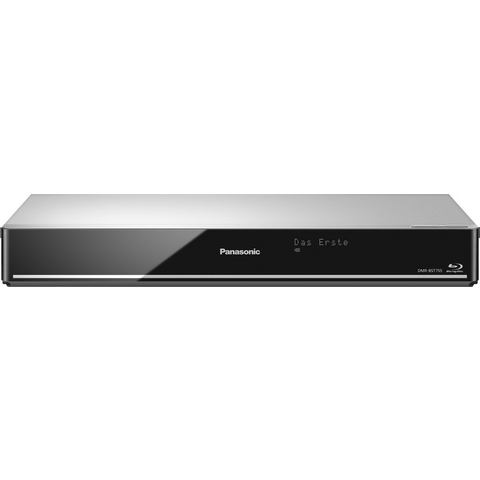 3D-blu-ray-speler met harde schijfrecorder Panasonic 500 GB Twin-HD DVB-S tuner, WiFi, Smart-TV Zilv