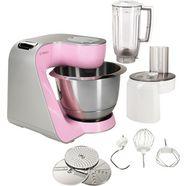bosch keukenmachine creationline mum58k20, met extra accessoires, 1000 watt roze