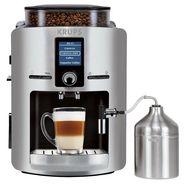 krups volautomatisch koffiezetapparaat ea826e, met melkkan van roestvrij staal zilver