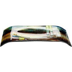 gilde glas art decoratieve schaal »schale campo, rechteckig« geel