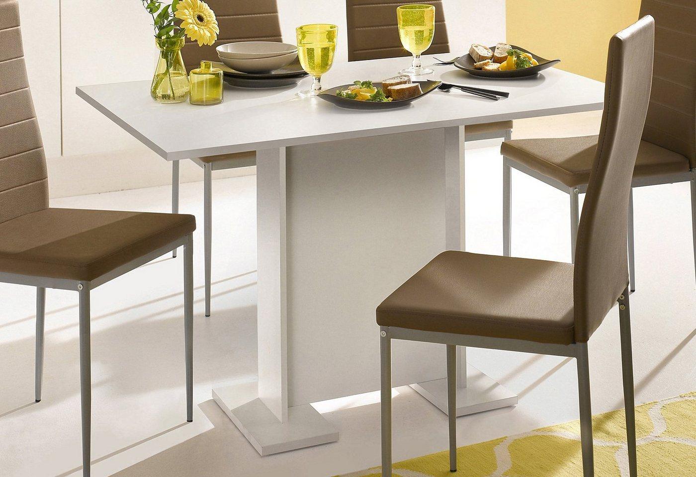 Eettafel op zuil, breedte 108 cm