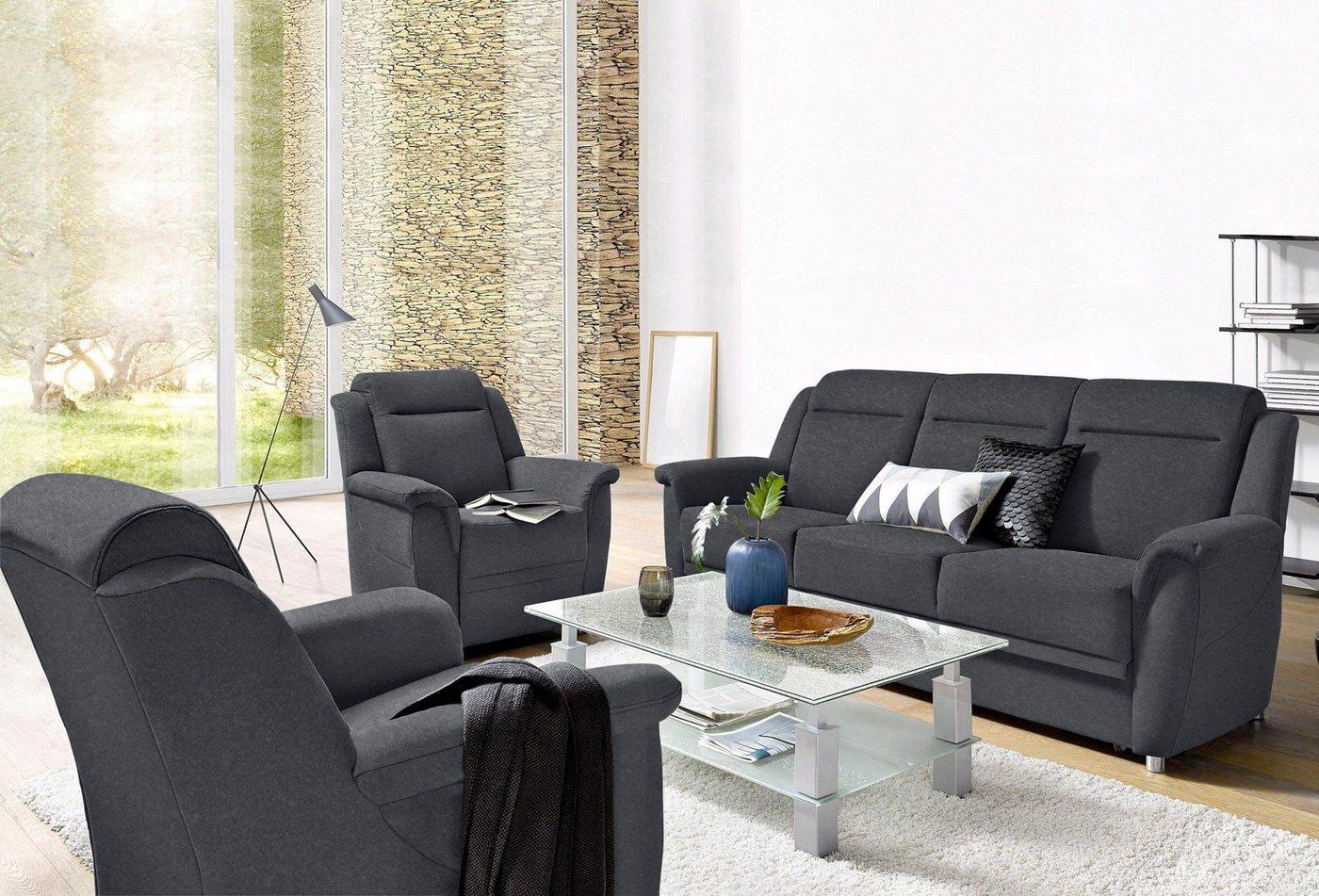 SIT & MORE Bankstel van 3-zitsbank en 2 fauteuils