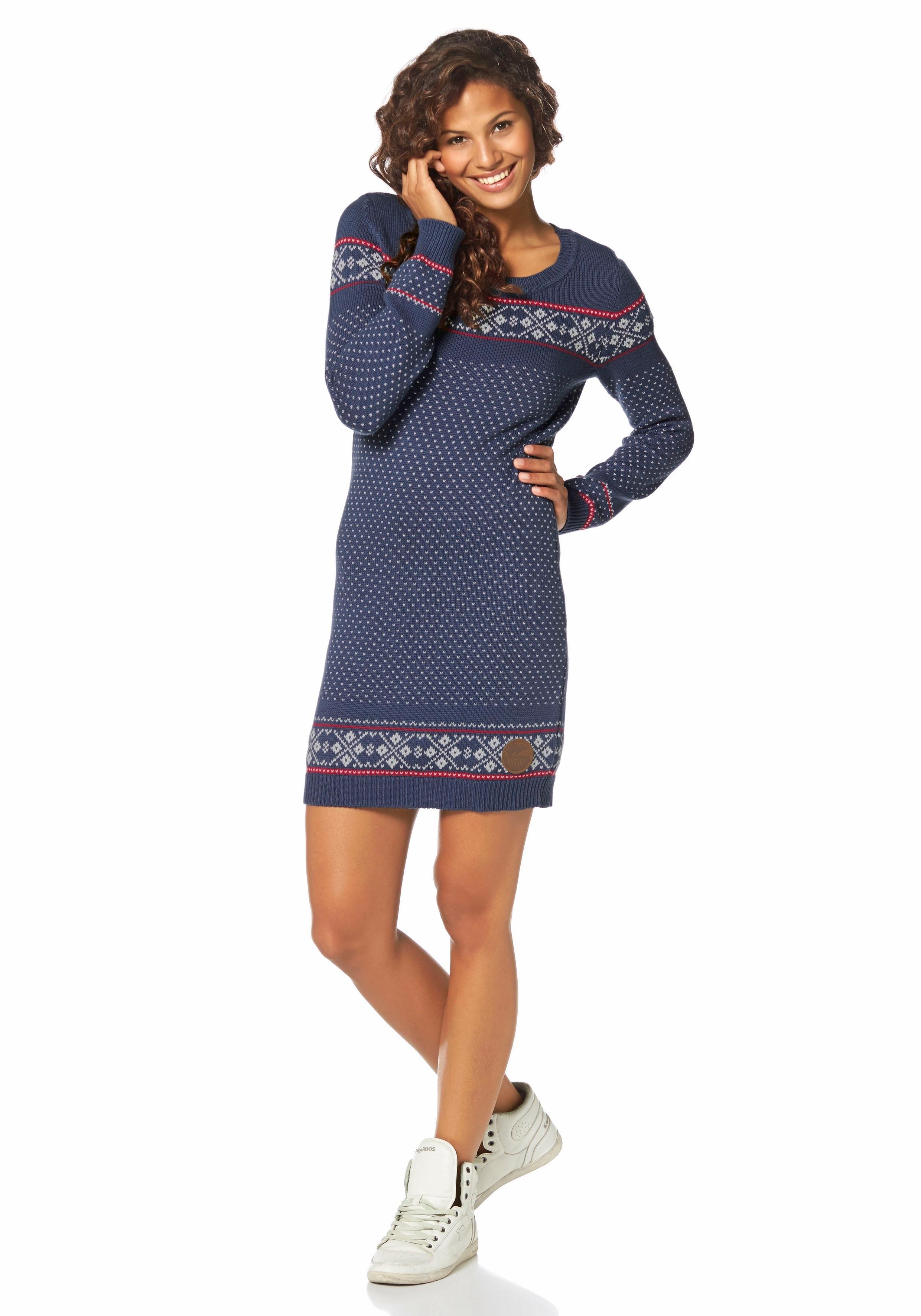 tricot jurk blauw