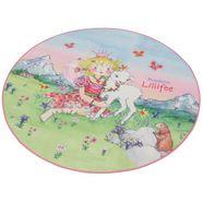 kindervloerkleed, prinses lillifee, »li-102«, rond roze