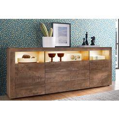 sideboard breedte 166 cm bruin
