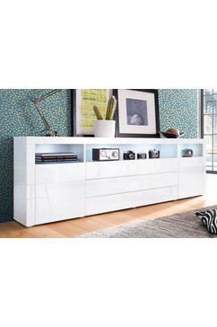 Sideboard 200 cm breed met 3 laden