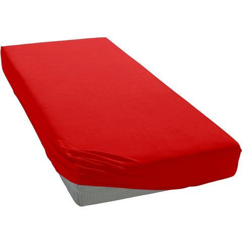 Hoeslaken Double jersey red