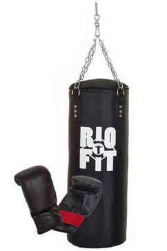rio fit set: stootzak en bokshandschoenen (2-dlg.) zwart