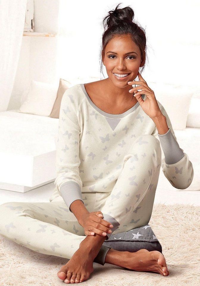 VIVANCE DREAMS Pyjama met details van satijn