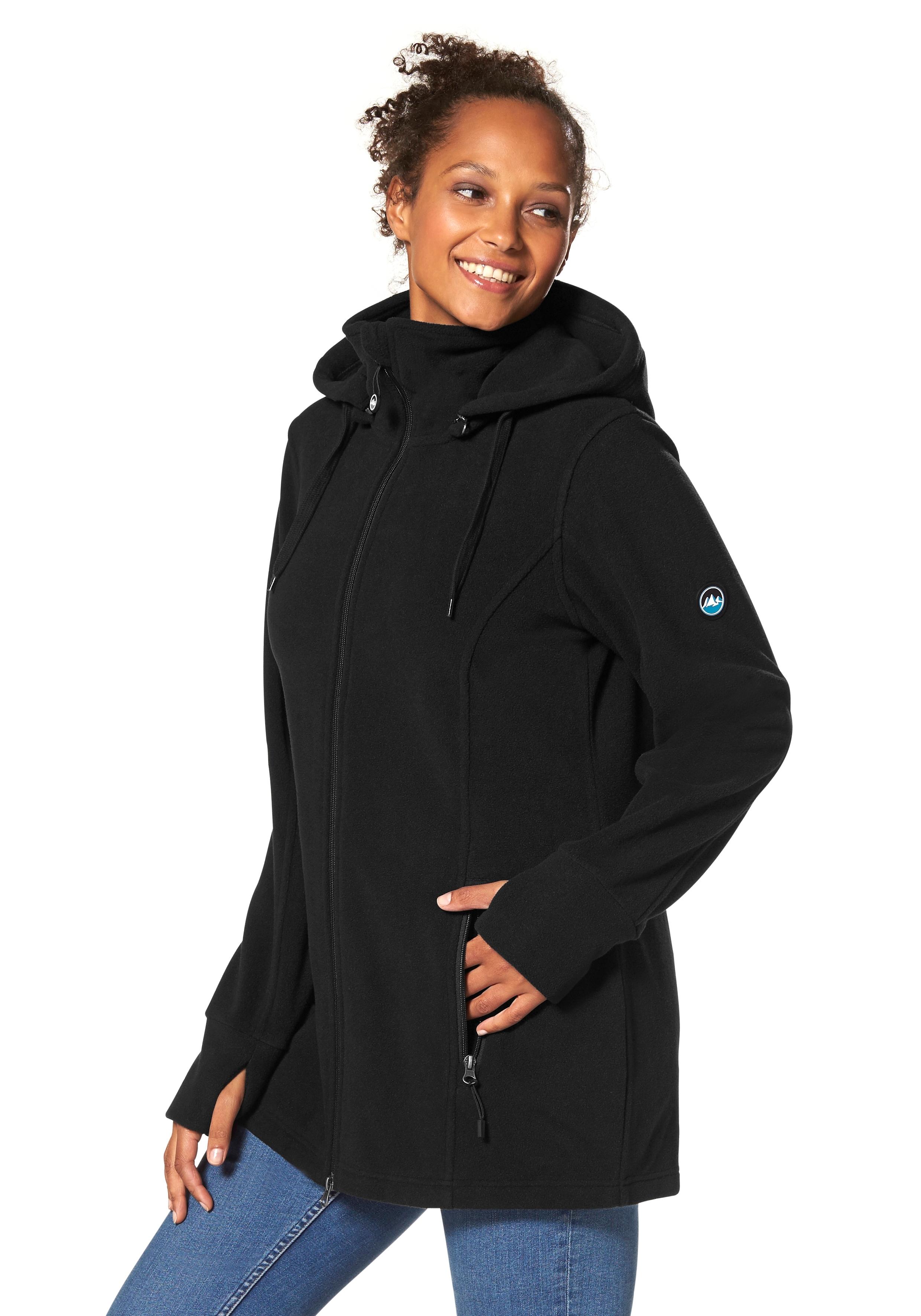 Polarino Fleece-jack met staande kraag voordelig en veilig online kopen