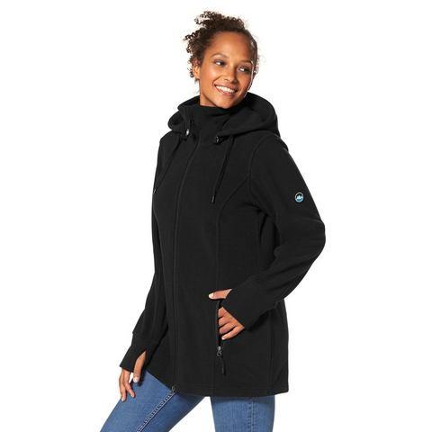 NU 20% KORTING: POLARINO Fleece-jack met staande kraag