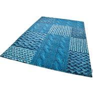 vloerkleed, tom tailor, »happy patchwork knit«, met de hand gemaakt groen