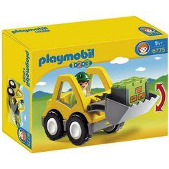 playmobil constructie-speelset laadschop op wielen (6775), playmobil 1-2-3 gemaakt in europa multicolor
