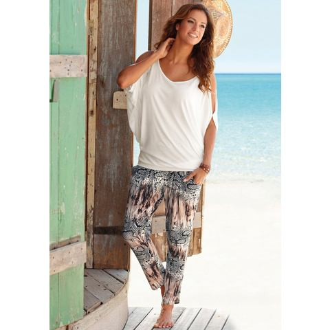 LASCANA Strandbroek met animal-print