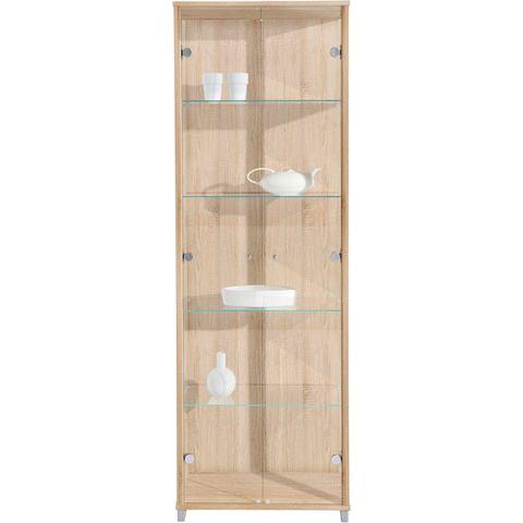 Kasten  vitrinekasten Vitrinekast 2-deurs met 4 glasplateaus 885451