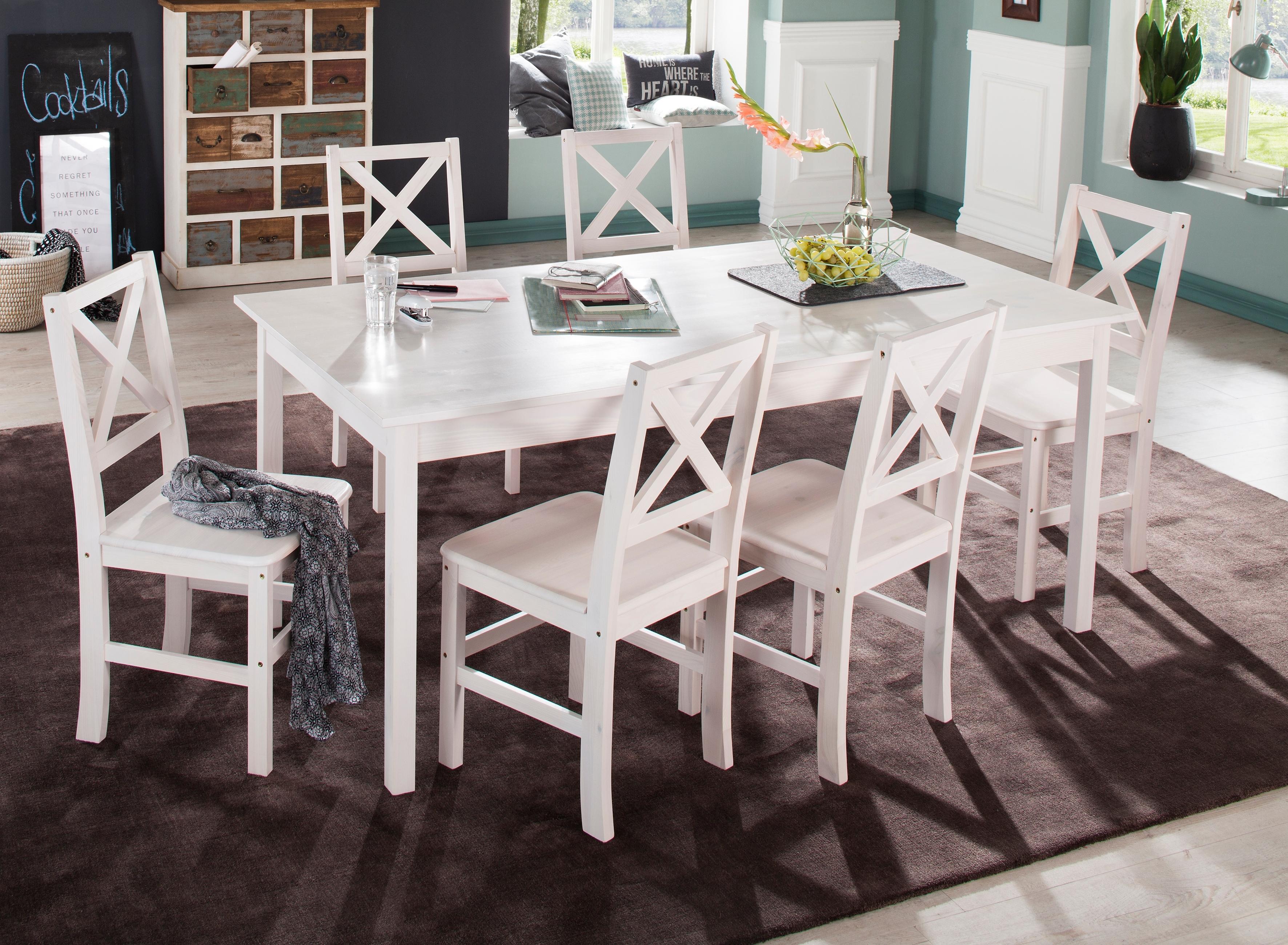 Spiksplinternieuw HOME AFFAIRE Eettafel van massief grenen online kopen | OTTO WH-28