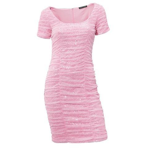 Picture Jurk met pailletten roze 049069