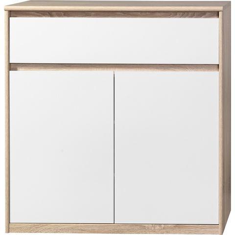 Kasten  vitrinekasten CS SCHMAL Kast Smart met 2 deuren en 1 lade 636638