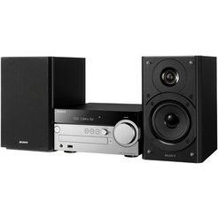 sony cmt-sx7b multi-room micro-set, airplay, bluetooth, nfc, wlan, rds, 2x usb zwart