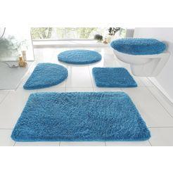 badmat »merida«, my home, hoogte 32 mm, met antislip-coating, geschikt voor vloerverwarming blauw