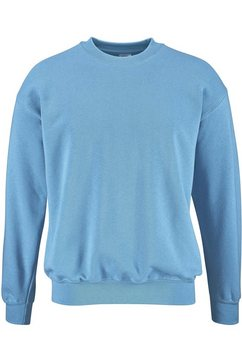 fruit of the loom sweatshirt met ronde hals blauw