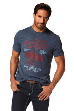 arizona t-shirt met print in vintage-look blauw