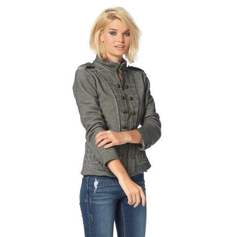 LAURA SCOTT Sweat-blazer in military-stijl