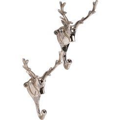 home affaire »wandhaken«, (bxdxh): 7x9x17 cm, set van 2 zilver