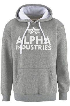 alpha industries capuchonsweatshirt grijs