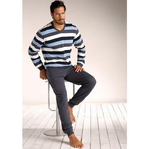Schiesser Pyjama blau