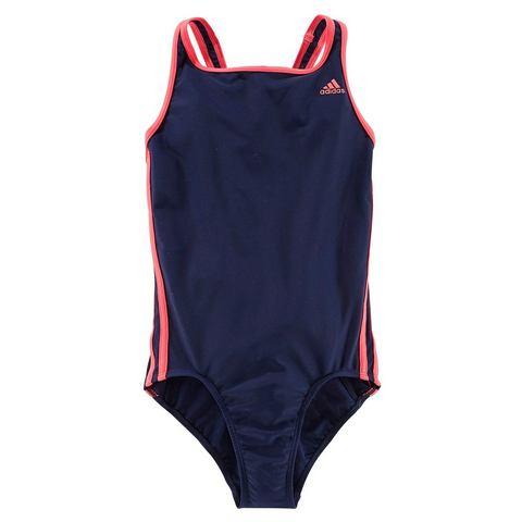 Meisjesbadpak Adidas 3S blauw-roze