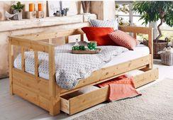 home affaire slaapbank aira met uitschuifbaar bed beige