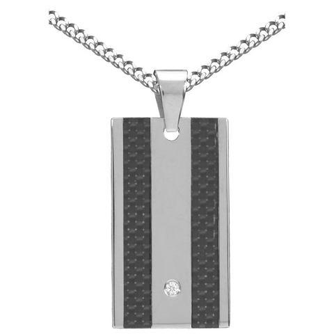 FIRETTI halssieraad: halsketting met pantserkettingschakels en zirkoon