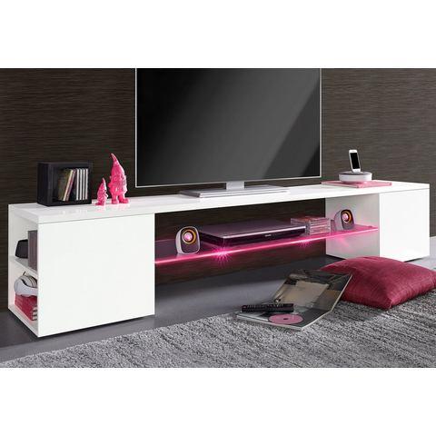 Tecnos lowboard breedte 140 of 200 cm hoogglans-wit TV-kast 400