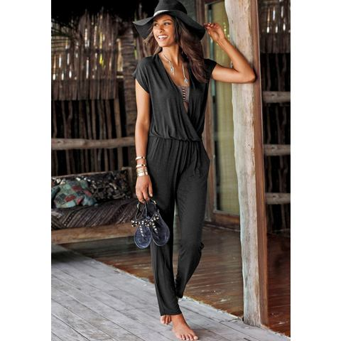 LASCANA Strand-jumpsuit in wikkel-look