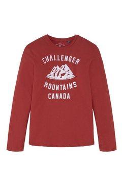 tom tailor shirt met lange mouwen »langarmshirt mit print« rood