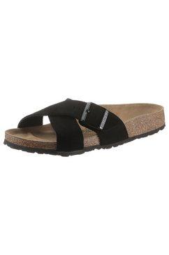 birkenstock slippers siena van suèdeleer, smalle schoenwijdte zwart
