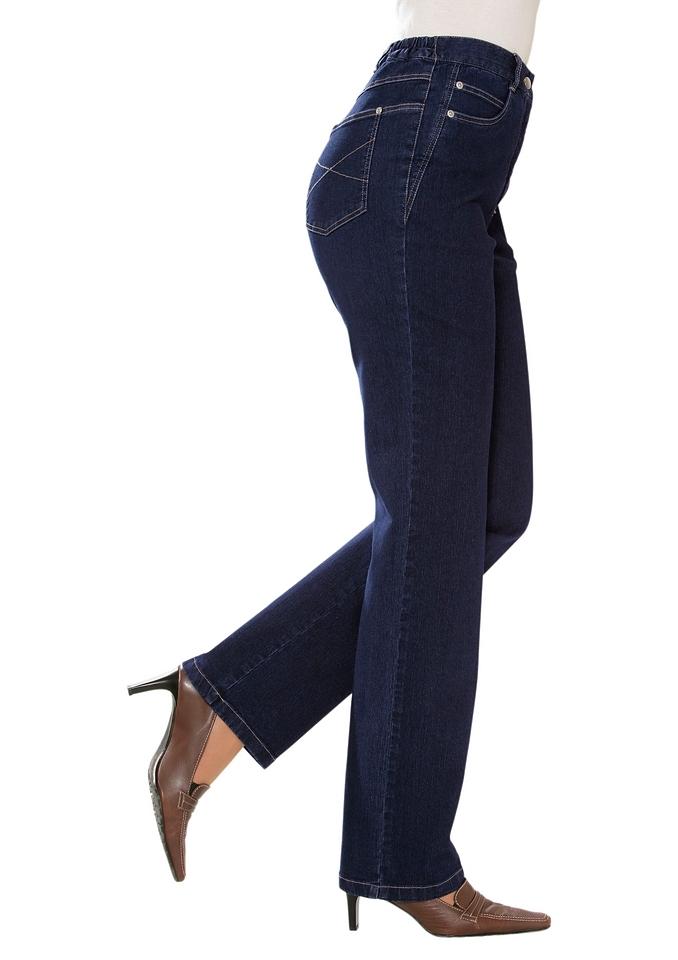 Classic Basics Jeans met elastische band nu online bestellen
