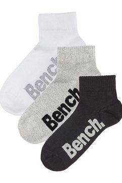 klassieke korte heren-sokken (3 paar), bench, mêleekwaliteit, met prettige ribboord multicolor