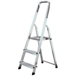 krause veiligheidsladder »corda huishoudladder«, eenzijdige toegang zilver