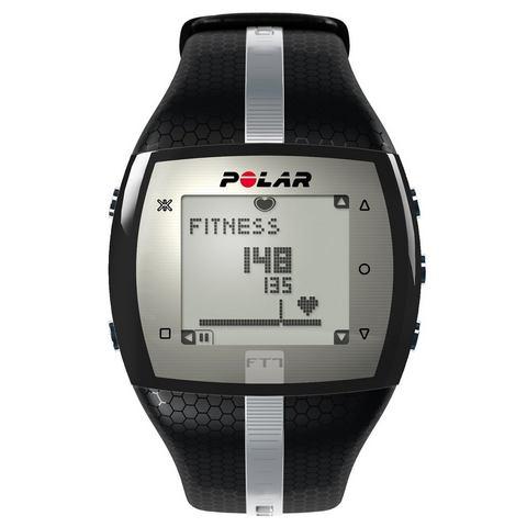 Polar fitness-hartslagmeter FT7 Black Silver incl. borstband