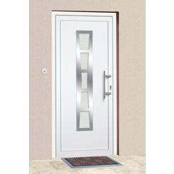 km meeth zaun gmbh kunststof voordeur »k640«, bxh: 98x208 cm, wit, in 2 varianten wit