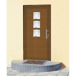 km meeth zaun gmbh kunststof voordeur »kt34«, bxh: 98x198 cm, bruin, in 2 varianten bruin